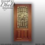 estate 3/4 lite leaded glass door