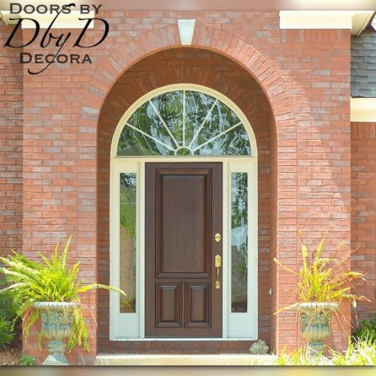 A beautiful solid wood door provided by Doors by Decora to go into an existing jamb.