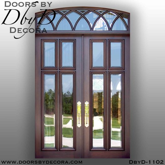 estate tdl double doors and transom