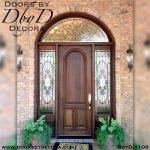 estate front door with glass