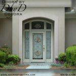 estate leaded glass shell door