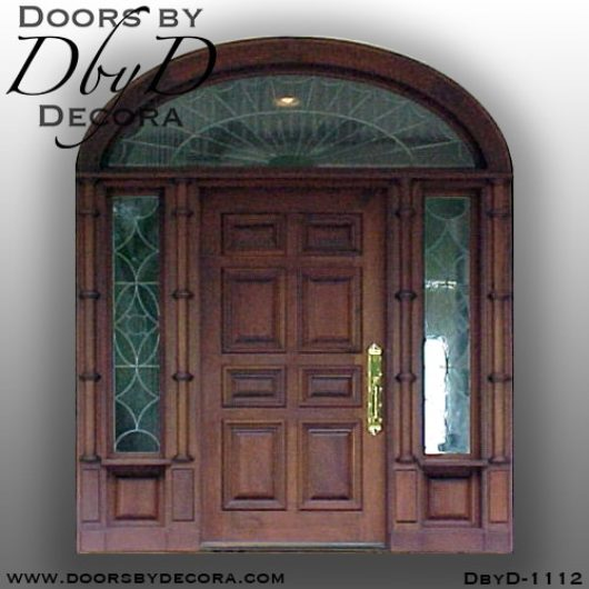 dbyd1112b - estate colonial leaded glass door - Doors by Decora