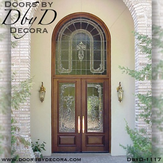estate leaded glass custom entry
