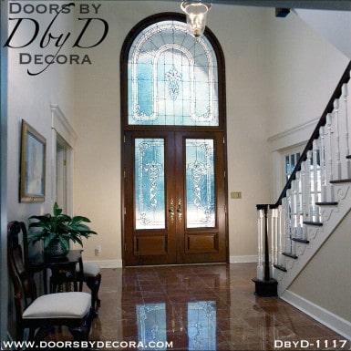 estate leaded glass custom entry