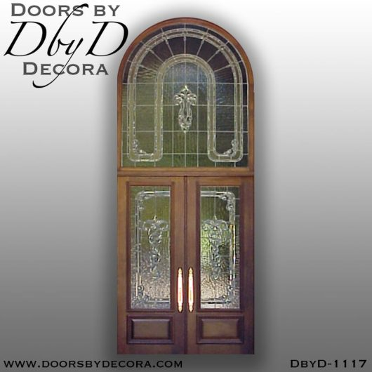 dbyd1117b - estate leaded glass custom entry - Doors by Decora