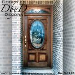 estate leaded glass oval front door