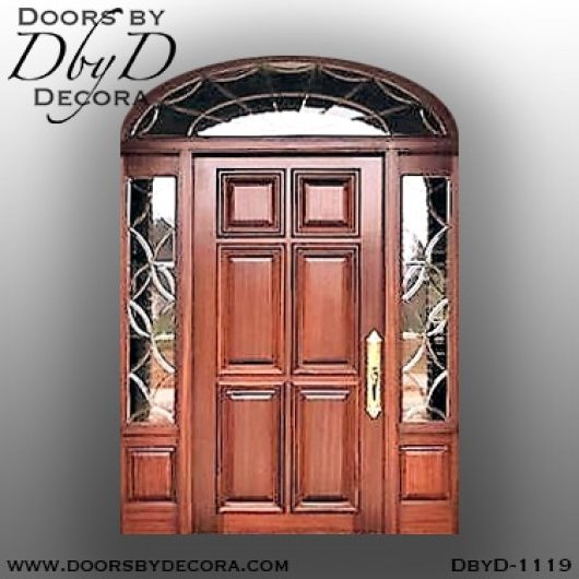 dbyd1119a - estate wood door and leaded glass - Doors by Decora