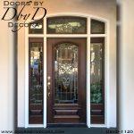 estate wood and glass front door