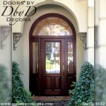 estate custom leaded glass door