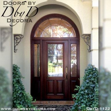 estate custom leaded glass door
