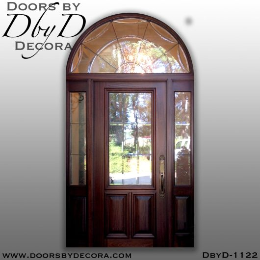 dbyd1122b - estate custom leaded glass door - Doors by Decora