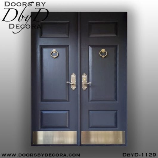 dbyd1129a - estate solid wood double doors - Doors by Decora