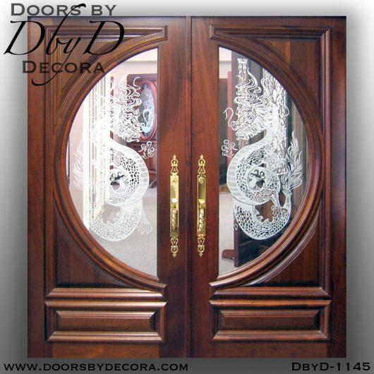 estate etched dragon double doors