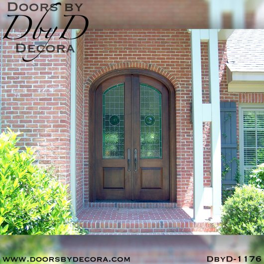 dbyd1176a - estate elliptical leaded glass doors - Doors by Decora