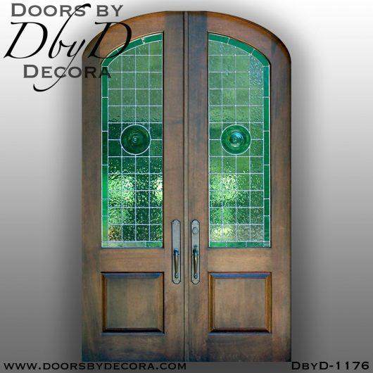 dbyd1176c - estate elliptical leaded glass doors - Doors by Decora