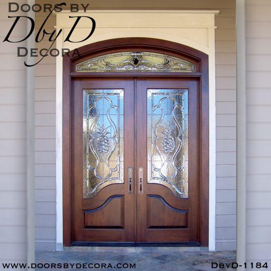 estate beveled glass pineapple doors