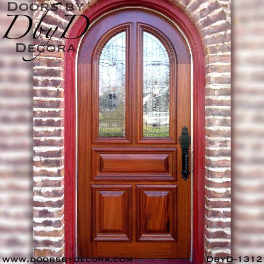 estate leaded glass radius door
