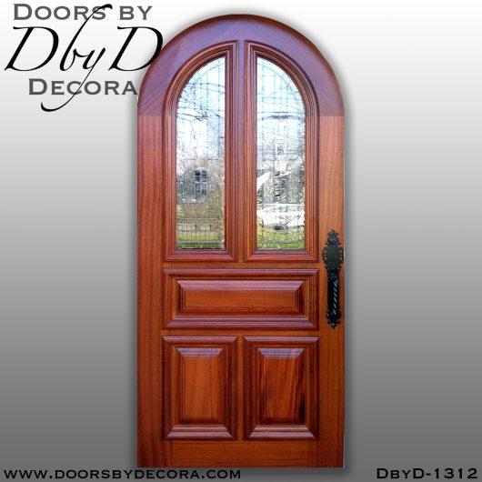 dbyd1312a - estate leaded glass radius door - Doors by Decora