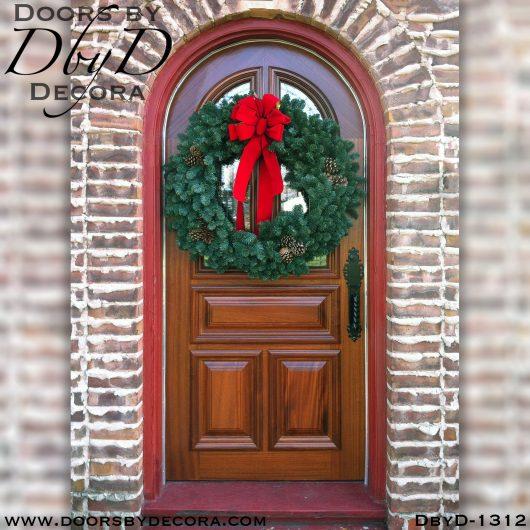 dbyd1312b - estate leaded glass radius door - Doors by Decora