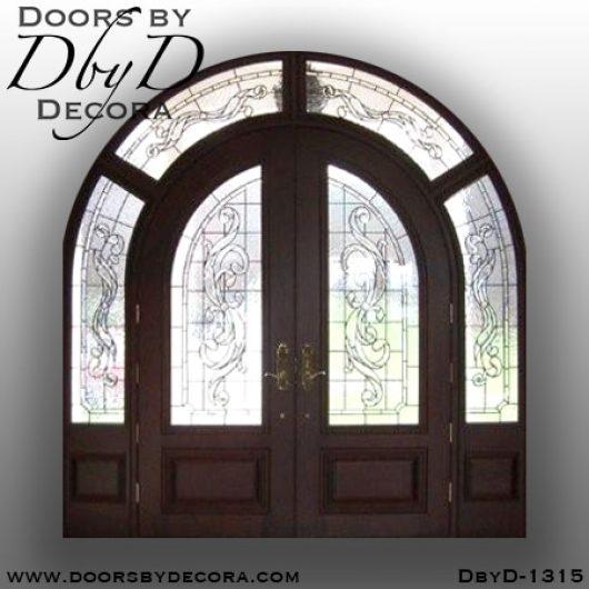 dbyd1315b - estate double radius entry - Doors by Decora