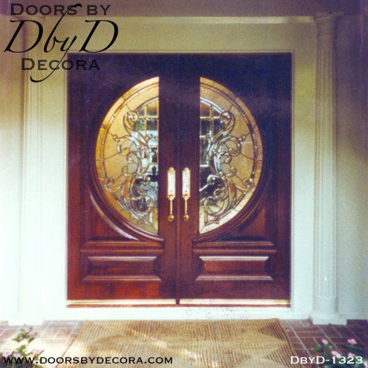 estate round leaded glass doors