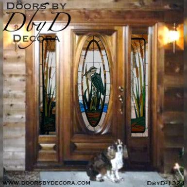 estate blue heron door