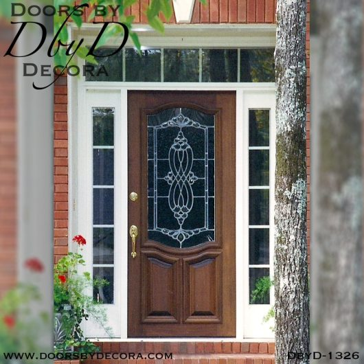 estate traditional leaded glass door