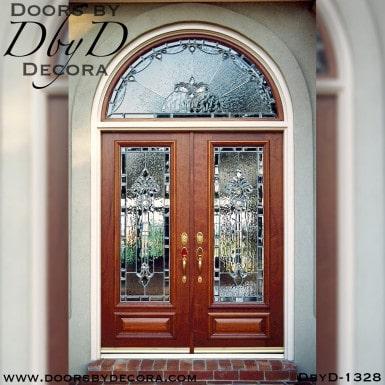 estate double doors radius transom