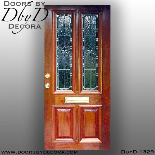 estate mahogany door with mail slot