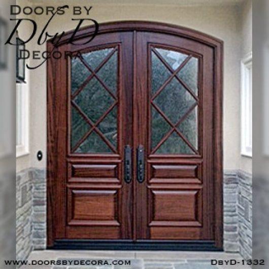dbyd1332a - estate tdl segment top doors - Doors by Decora