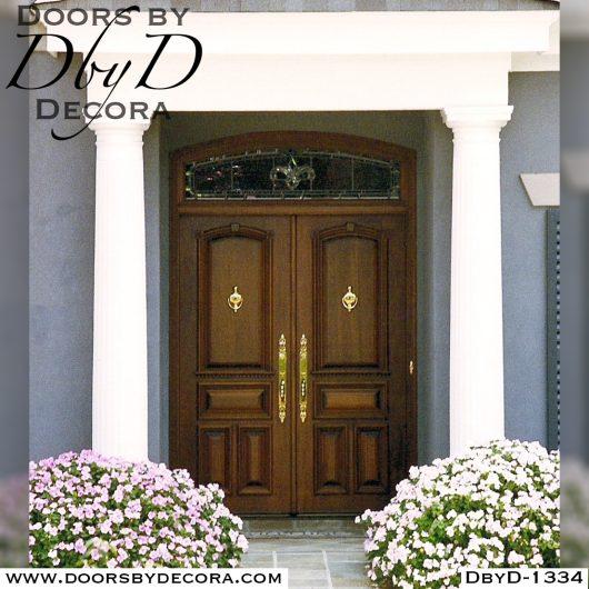 estate wood double doors