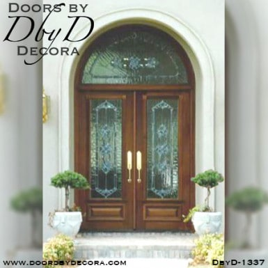 estate leaded glass front door entry