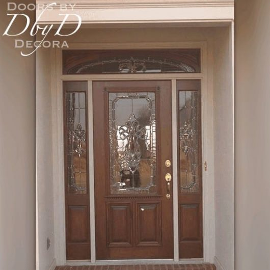 A door and two side lites with our signature RET transom.