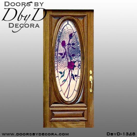 estate leaded glass rose door
