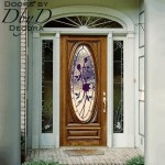 Our signature full lite oval door with custom stained glass.