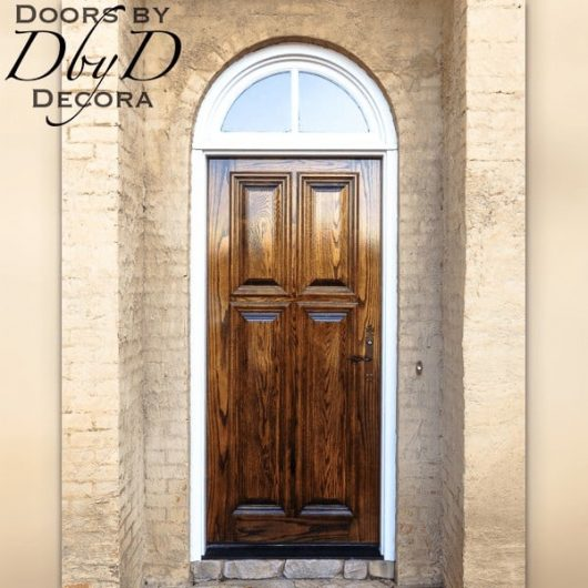 A beautiful standard four panel door.