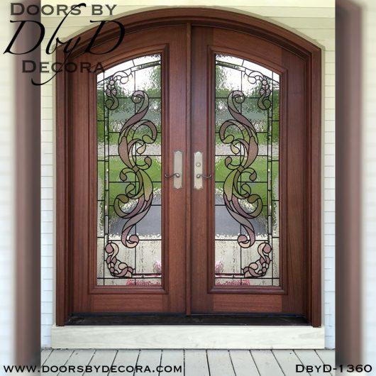 estate double mahogany doors