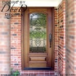 estate leaded glass wood door