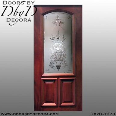 estate wheel engraved glass door