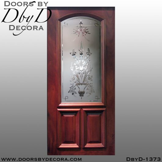 estate wheel engraved glass door