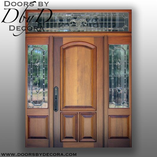 dbyd1374a - estate mahogany front entry - Doors by Decora