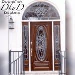 Our signature full lite oval door unit with leaded glass.