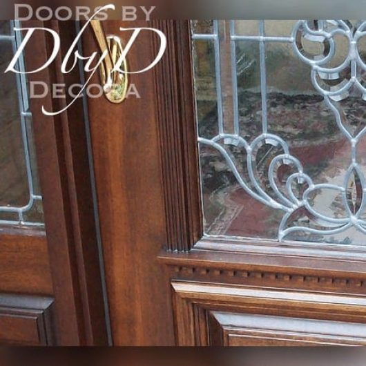 A close-up shot of the architectural molding on a Doors by Decora door.
