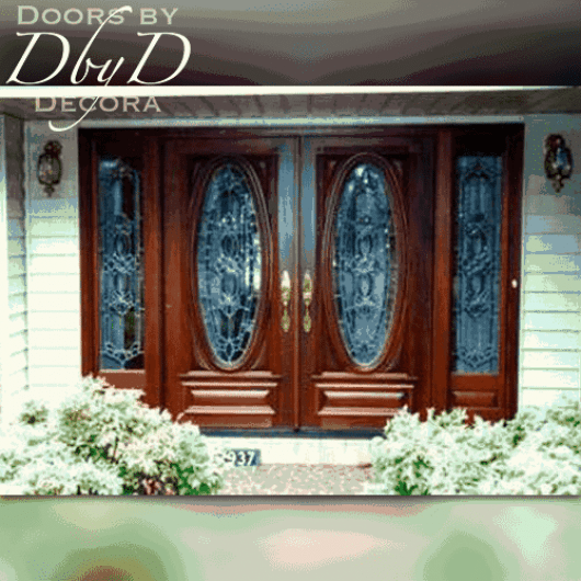 Front entry featuring two of our signature oval doors and side lites.
