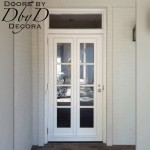 Door built to accommodate two removable shutter panels.