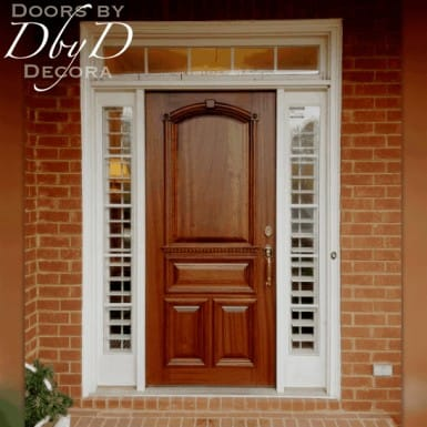 This is a standard door with architectural molding added.