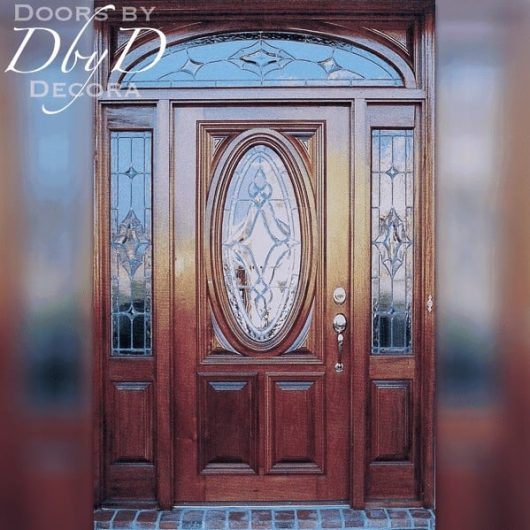Our signature oval door with RET transom.