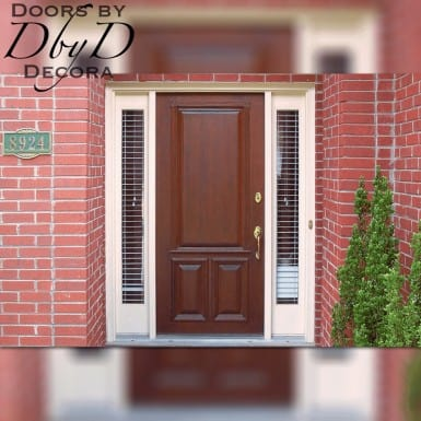 A beautiful solid panel door.