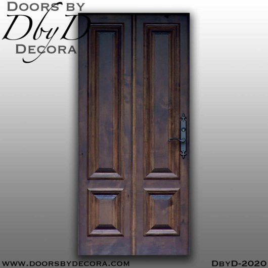 french country 4-panel door