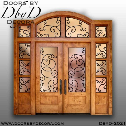 french country double iron doors